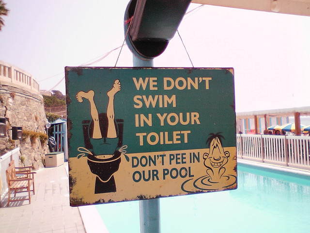 Don't pee in our pool